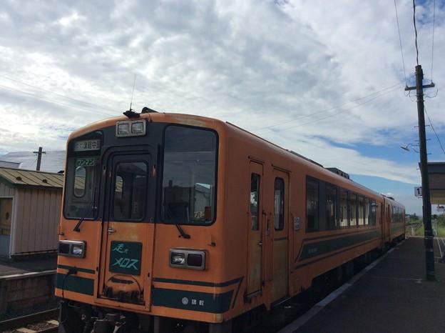 金木駅に到着