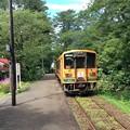 芦野公園駅を発車した列車
