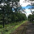 芦野公園駅から金木・津軽五所川原方面を望む