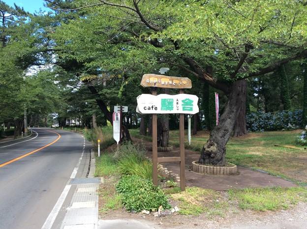 Photos: cafe 驛舎 看板