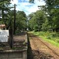 芦野公園駅に入線する普通列車津軽五所川原行き