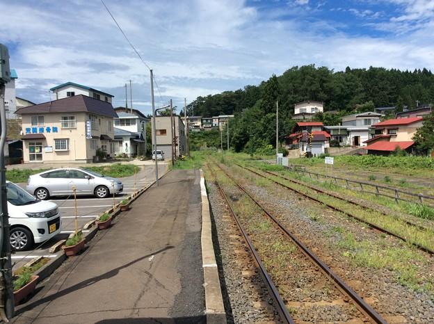 津軽中里駅の、その先は。