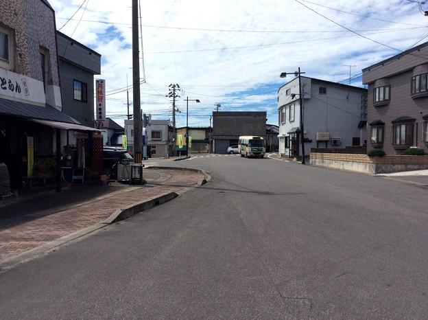 津軽中里駅前