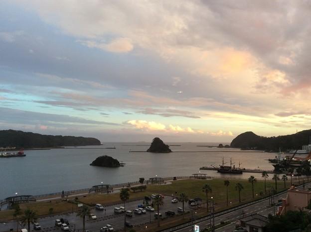 下田の夕景