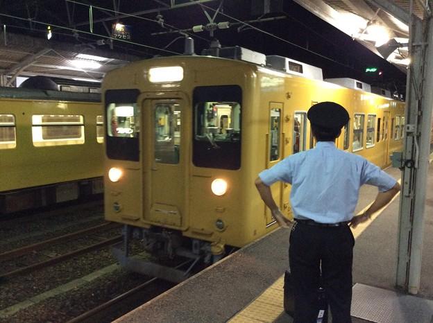 宇部新川駅にて