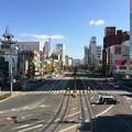 Photos: 豊橋駅から路面電車の鉄路を望む