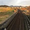 造田駅跨線橋から徳島方面を望む