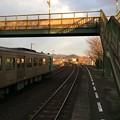 造田駅と夕日2