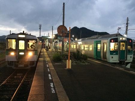 引田駅に到着