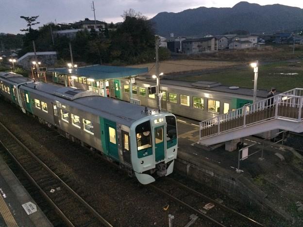 引田駅にてすれ違い
