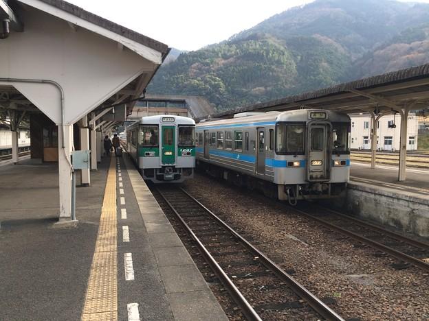 阿波池田駅に到着