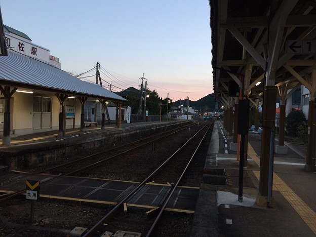 Photos: 海部行き普通列車出発