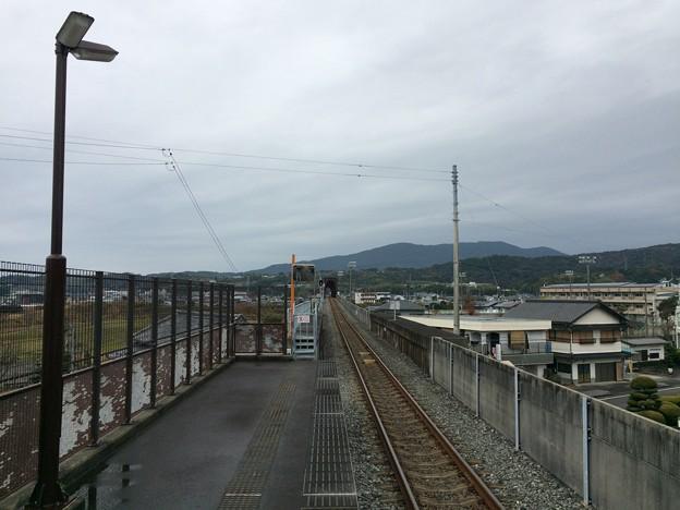 奈半利駅より安芸・後免・高知方面を望む