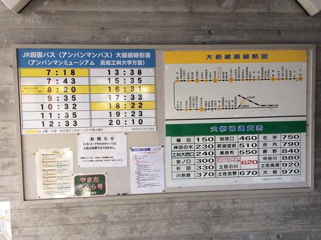 土佐山田駅 アンパンマンミュージアム方面バス時刻表