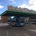 バス、土佐山田駅に戻る