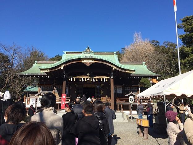 地元の神社に初詣