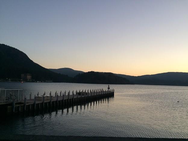 箱根芦ノ湖の夕景1