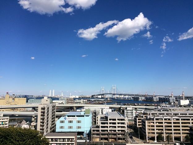 横浜 海の見える丘公園からの眺め