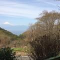 駿河湾南側から見えた富士山