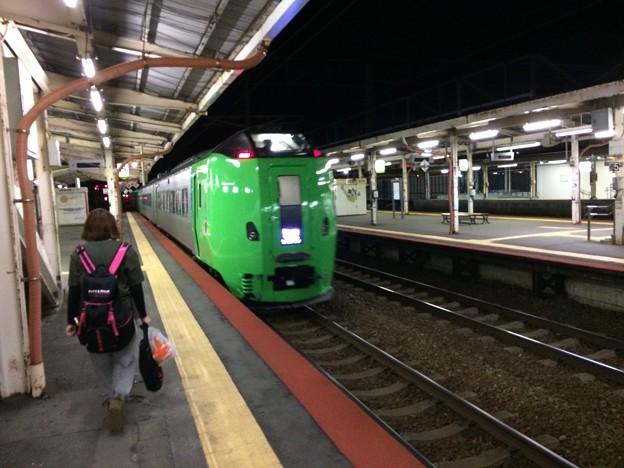 滝川駅にて下車1