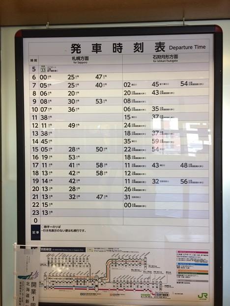 2017石狩当別駅 列車時刻表