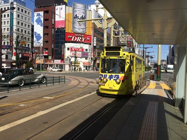 札幌の路面電車5 ~すすきの停留所に電車到着~