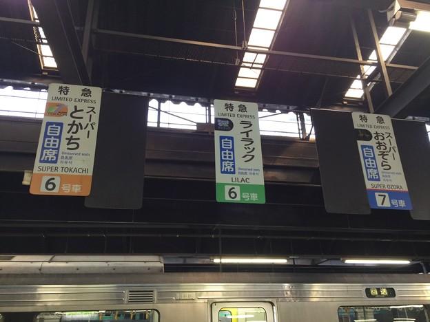 Photos: 特急列車 ドアの位置
