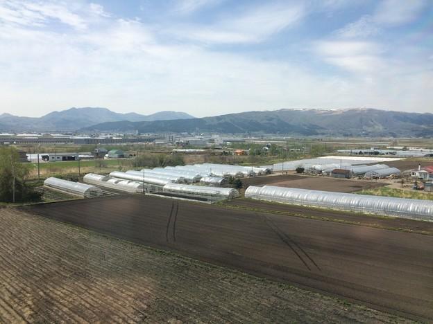藤城支線から新函館北斗駅を望もうとするも