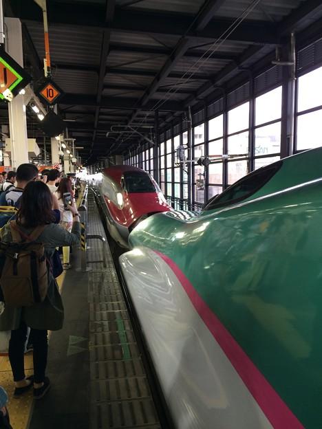 2017盛岡駅 こまちとドッキング