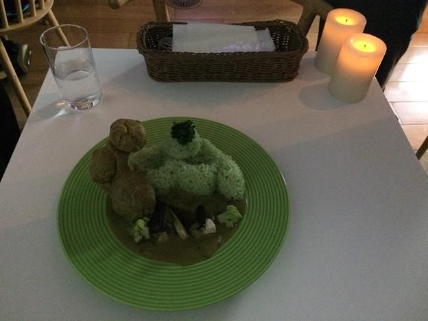 六本木での夕食 グリーンカレー