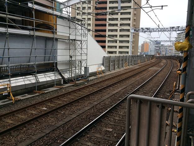 東大島駅から新宿方面を望む