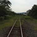 気賀駅から三ケ日・新所原方面を望む