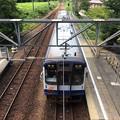 のと鉄道の列車 入線