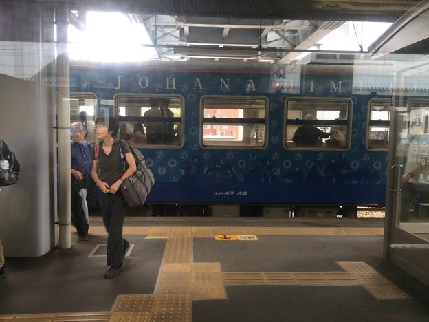 高岡駅にべるもんた到着