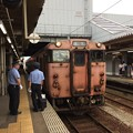氷見線 高岡駅に到着