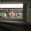 万葉線ホームからJR高岡駅を見る