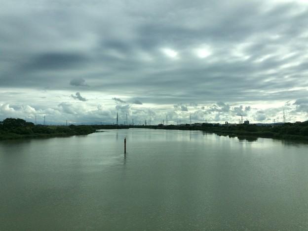 万葉線の鉄橋から1