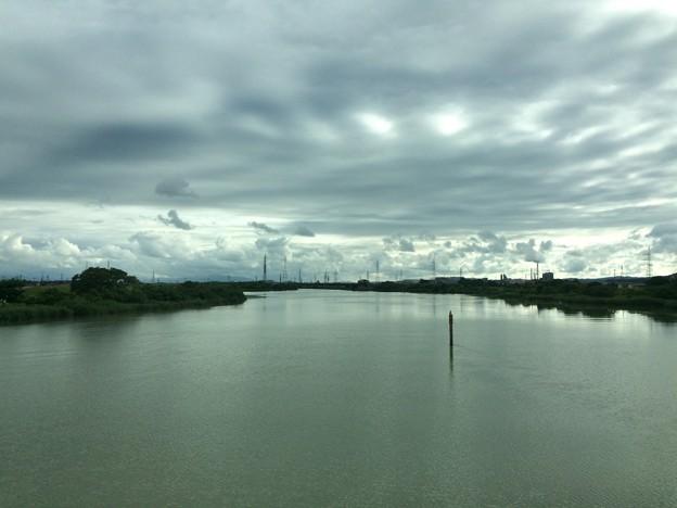 万葉線の鉄橋から2