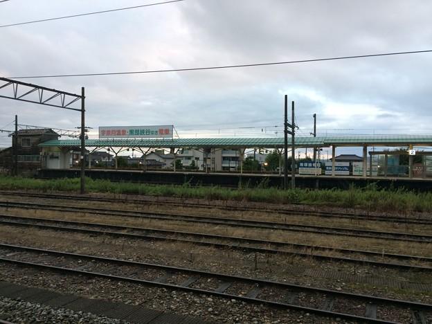 富山地方鉄道新魚津駅が見える