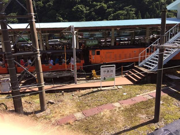 黒部峡谷鉄道 宇奈月駅と客車