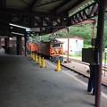 欅平駅に機関車が入線