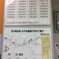 専用列車時刻表と通行状況案内図