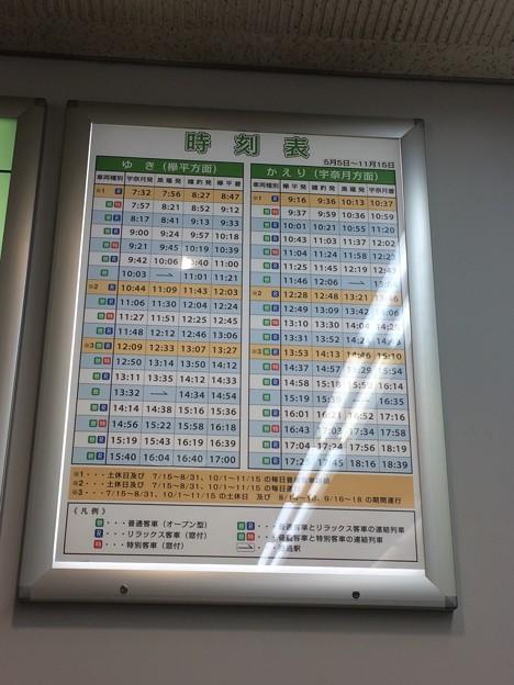 黒部峡谷鉄道 時刻表