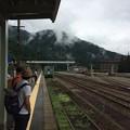 猪谷駅にて電車待ち