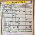 Photos: 八幡バス 時刻表