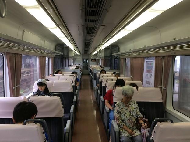 美濃太田発岐阜行き普通列車 車内