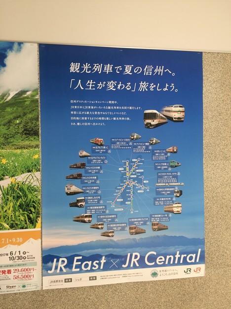 JR東海のポスター1 ~信州の観光列車~