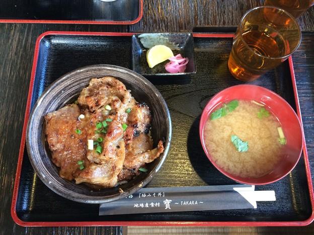 長瀞での昼食 豚みそ丼