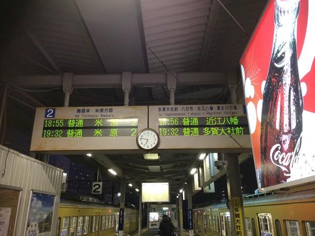 近江鉄道彦根駅 行先表示