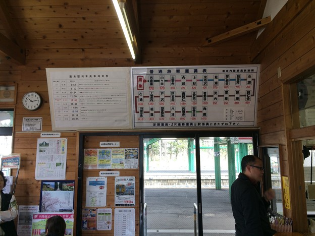鷹ノ巣駅9 ~秋田内陸縦貫鉄道 運賃表~